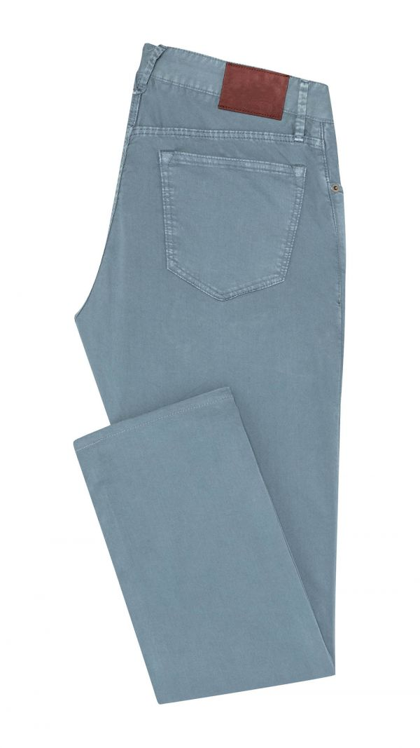 Slate Blue Cotton Jeans