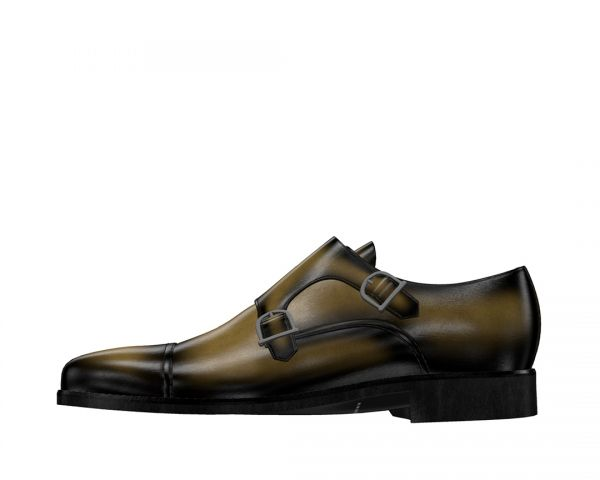 Double Monk Strap Khaki