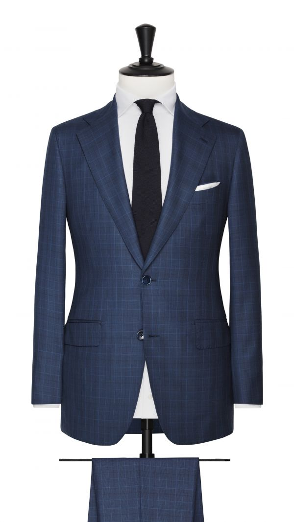 Blue Super 150's Glencheck Suit