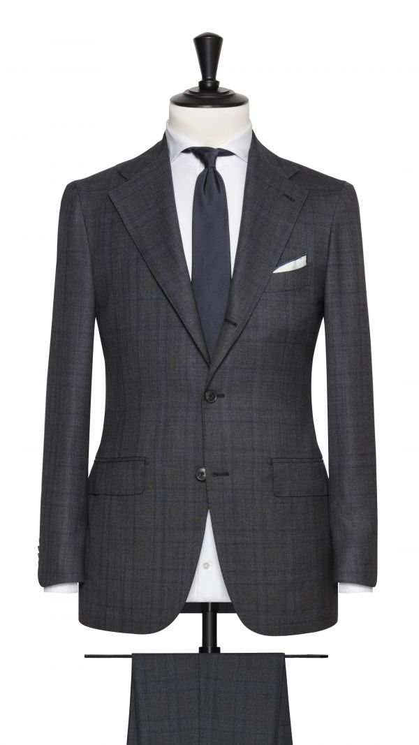 Grey Super 150's Check Suit