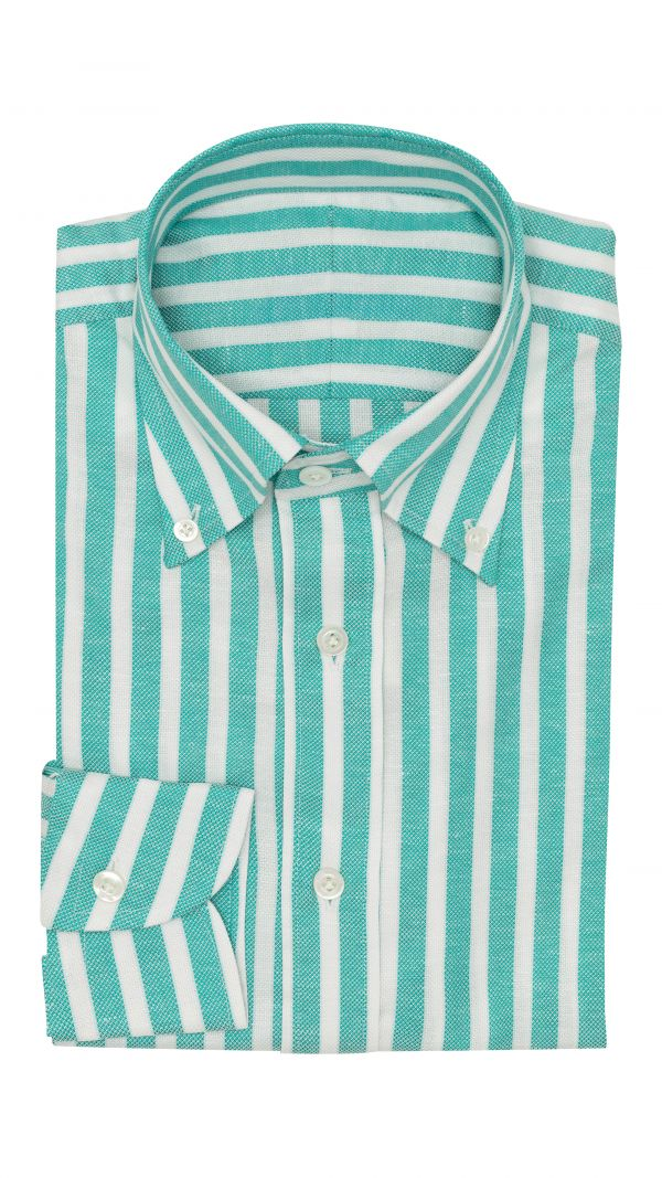 Teal and White Stripe Shirt